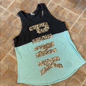 Victoria's Secret Pink BLING tank top size large